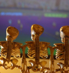 Skeleton Family Watches the Big Game