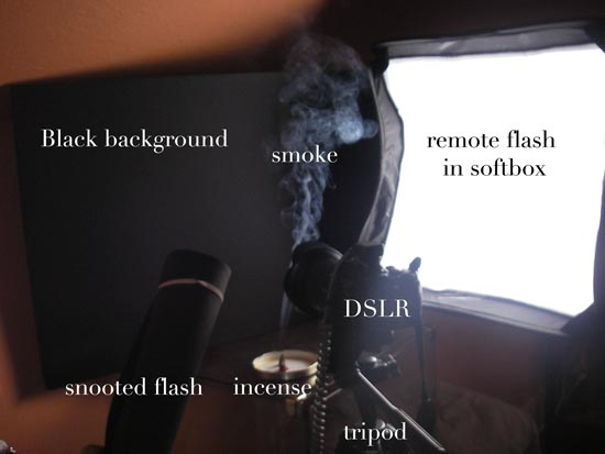 Smoke photography setup