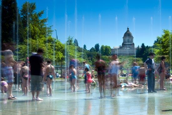 Heritage Park Fountain, Olympia WA