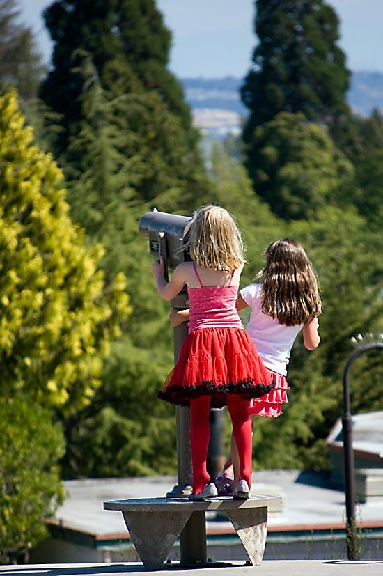 Girls at telescope