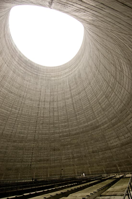 Satsop nuclear plant cooling tower #3 interior