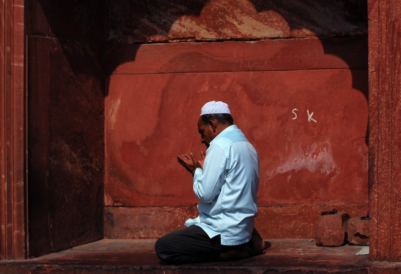 Praying at Mosque, New Delhi
