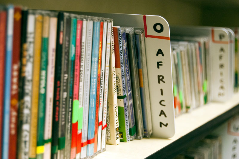 African section, KAOS music library