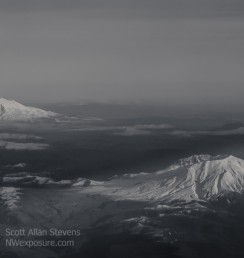 Mt. St. Helens and Mt. Rainier - ©2015 Scott Allan Stevens, www.NWexposure.com