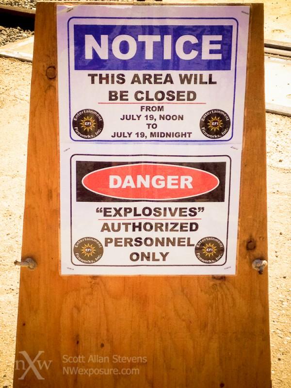 Danger: Explosives!