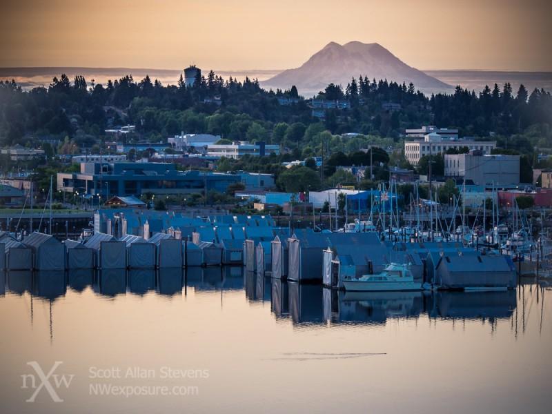 Port of Olympia and Mt. Rainier