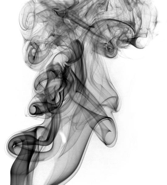 Black smoke - smoke photography