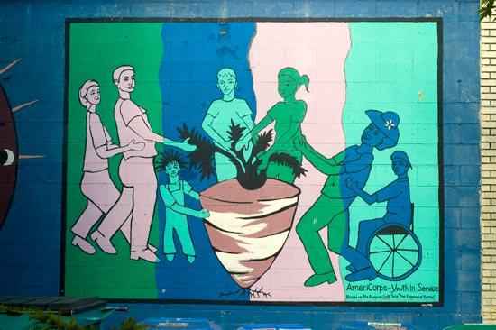The Enormous Turnip mural