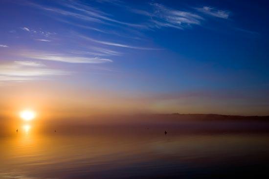 Water, Sky, Fog