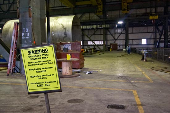Welding Area - Satsop Development Park