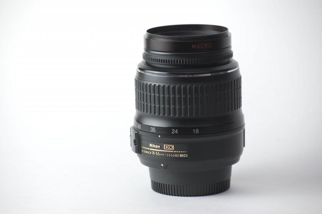 Nikon 18-55 lens with macro diopter