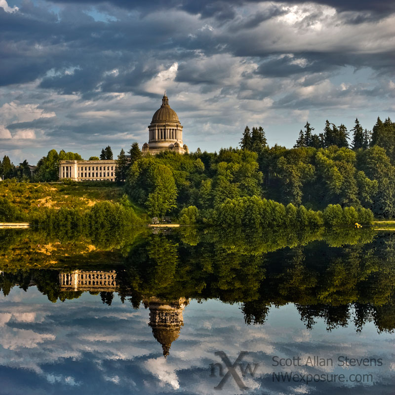 Capitol Reflection, Olympia WA
