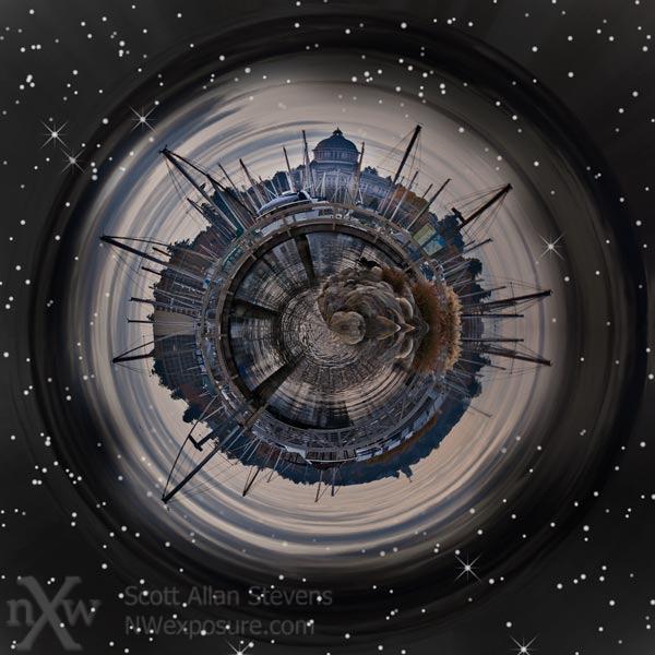 Olympia Washington mini-planet
