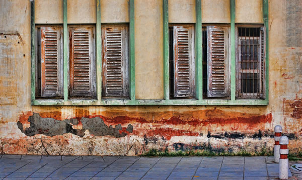 colorful wall of Indian home, New Delhi