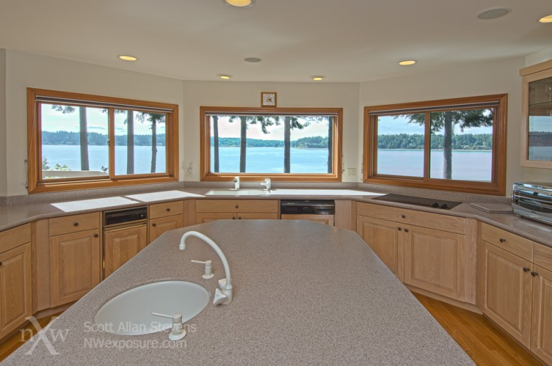 Puget Sound Waterfront Home - Kitchen