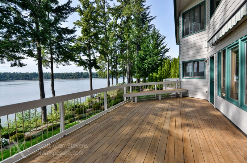 Puget Sound Waterfront Home deck