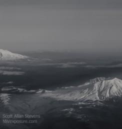 Mt. St. Helens and Mt. Rainier - ©2015 Scott Allan Stevens, www.NWexposure.com